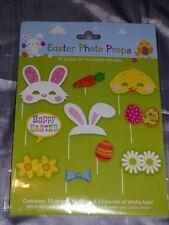 Pascua apoyos de la foto hace su propia huevos de pollo Conejo Flores Juegos Fiesta Arts