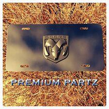 Dodge Emblem License Plate 3D Ram Head Custom Thin Aluminum New Matte Black