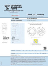 DIAMANT 0.58ct Brillant SI1 Light Yellow (Y-Z) IGI