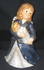 """Goebel 41-094 Figurine 8"""" Winged Angel Holding Doll Excellent Condition"""