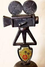 Collectors Hollywood CA Vintage Reel to Reel Movie Camera Pewter Souvenir Bell