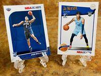 2019-20 PANINI NBA HOOPS ZION WILLIAMSON/JA MORANT ROOKIE CARDS  #258/#297 LOT