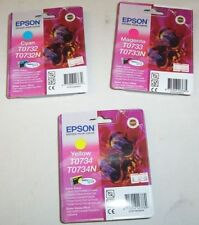3 x Epson genuine 73/73N cartridges cyan, magenta, yellow for CX6900F,CX5500++..