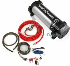Power Pack: Rockford Fosgate 1.0 Farad Capacitor + 1000W RMS Handling Amp Kit