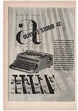 Pubblicità OLIVETTI STUDIO 42 MACCHINA SCRIVERE advert werbung publicitè reklame