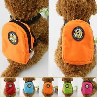 Dog Backpack Harness Leash Mini Bag Dog Harness Puppy Collar Chest Strap Pet