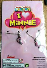 Job Lot 25 X DISNEY MINNIE MOUSE FRIENDSHIP NECKLACE SETS 2 PIECE SETS
