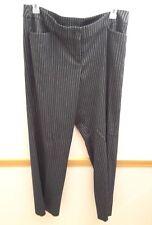 Lane Bryant Women's Black Dress Pants with White Stripes Size 16