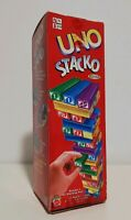 UNO STACKO The Block Stacking Children's Family Game Mattel 2002 Contents Sealed