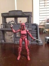 Custom star wars pink mandalorian female warrior figure 3.75