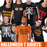 Halloween T Shirt Skeleton Pumpkin T shirts Mens Boys Kids Womens Funny Costume