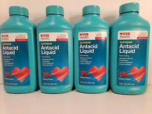4 PCS CVS SUPREME Strength Antacid Liquid 12 Fl Oz Cherry Expires Jan/22