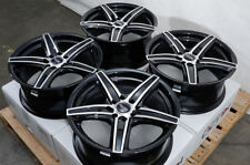 "16"" Wheels Fusion Taurus Honda Civic Accord Cr-Z Prelude Es330 Black Rim 5 Lugs"