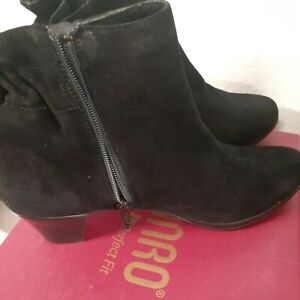 Munro Womens Alfie Leather Closed Toe Ankle Fashion Boots, Black suede, Size 7.5
