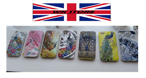 iPhone 4 Phone Case Peacock Design Silicone Various Colours UK Stock FAST & FREE