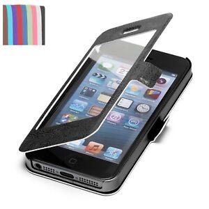 Apple iPhone 5 / 5S Hülle S-View Tasche Wallet Case Schutz Hülle Etui Cover