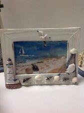 Photo frame beach seaside nautical landscape #H96