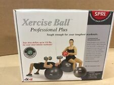 "SPRI SB45VC-PLUS Xercise Ball 45CM 16.5"" Stability Green Ball & Air Pump"