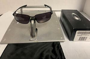 Oakley Men's Splinter Matte Black Midnight w/Warm Grey Sunglasses 05-468 RARE
