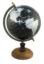 Classy Globe on Holzstand H 32 cm Iron Frame, Antique- Colour Black