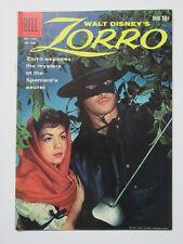 Zorro Walt Disney Presents (Dell 1957) #1037 F+ Photo Cover with Alex Toth Art