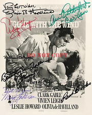 GONE WITH THE WIND Cast Signed 8x10 Autographed Photo Reprint