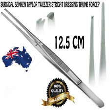 NEW Surgical Semken Taylor Tweezer Pliers Straight Dressing Thumb Forceps 12.5CM