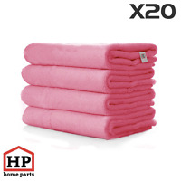 20 X Professional Washable Microfibre Cloths Extra-Large Super Thickness Pink