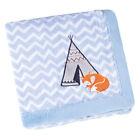 Baby Fleece Blanket embroidered animal character Stroller Crib Blanket Gift Pack
