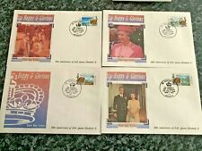St Vincents WI, Bequia First Day Cover 40th Anniversary HM Queen Elizabeth II