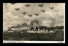 DR JIM STAMPS SHIPS AIRPLANES MILITARY CUPPED REAL PHOTO POSTCARD GERMANY CUT