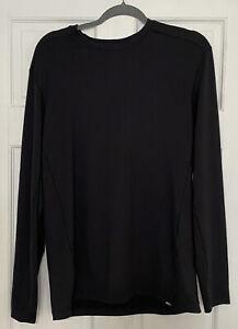 REI Co-op Lightweight Black Base Layer Long Sleeve Men's Crew Top Medium Shirt
