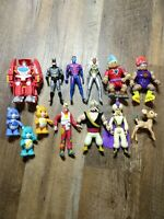 Mixed Lot of 13 Vintage Action Figures 80's 90's Disney Marvel DC Toy Biz Kenner