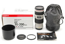 MINT with Box CANON EF 70-200mm F4L IS USM Lens MF SLR 35mm f4 from Japan