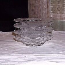 CLEAR DEPRESSION GLASS BOWLS SET OF SIX.UNKNOWN MAKER
