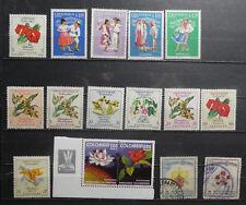 TIMBRES COLOMBIE** orchidées et danses traditionnelles (A453)