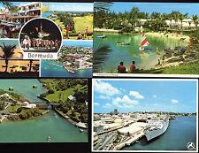 Bermuda Lot of 4 Vintage Postcards Cruise Ship Boats Somerset Golf Resorts More