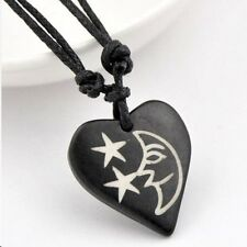 Moon Heart Star Necklace Zen Beach Surfer Pendant Tao Adjustable Yak       #2
