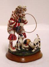 Chuck Oberstein Clown Figurine Dog Hoop #1/0221 Vanmark Clowning In America 1999