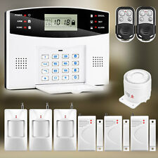 GSM Wireless Home Burglar Alarm Security System Remote Control PIR Door Sensor