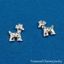 Baby Giraffe Post Earrings - 925 Sterling Silver - African Safari Zoo Studs NEW