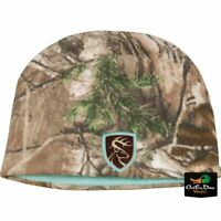 DRAKE WATERFOWL NON TYPICAL LADIES FLEECE BEANIE REALTREE EDGE CAMO