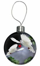 Two White Doves+ Red Heart Christmas Tree Bauble Decoration Gift, AB-D6CB