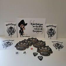 More details for ‼️brand new motorhead bundle‼️ 5 beer mats + 5 plectrums + 4 stickers + art card