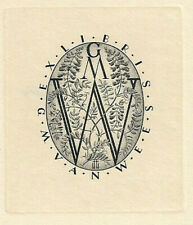 HUBERT WOYTY-WIMMER: Exlibris für G. M. van Wees