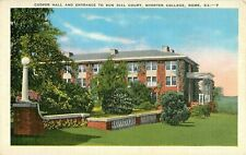 c1940 Cooper Hall and Sun Dial Court, Shorter College, Rome, Georgia Postcard