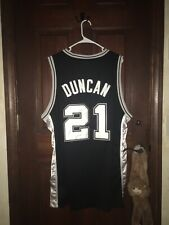 Mens Reebok Sz 48 Tim Duncan Spurs Nba Basketball Jersey ~ Stitched