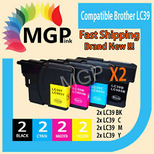 8x GENERIC INK Cartridge LC39 LC985 for Brother DCP J125 J315W J515W MFC J220