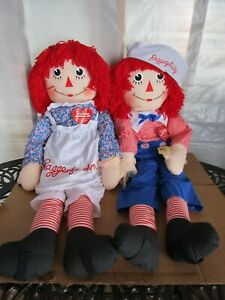 "Applause Raggedy Ann And Andy 48"" Dancing Dolls  NWT"