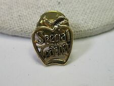 Gold Tone Special Teacher Tack Pin - Apple Shaped, Cut-Out